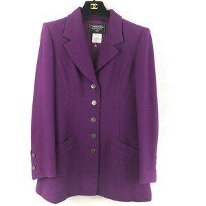 Chanel Boutique Wool Shaped Blazer Jacket 1997
